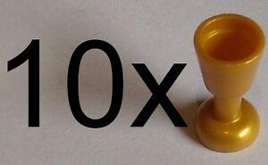 LEGO-10x-CALICE-DORATO-2343-ORO-PERLA-MINI-FIGURE-Utensile-Calice