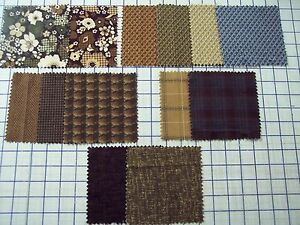 FLANNEL-100-quality-cotton-fabric-Timeless-Treasures-earth-tones-1-2-yd-x-44-w