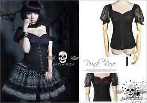 Lolita-goth-medieval-fantasia-Tulip-blossom-princess-chiffon-blouse-Tee-LT003