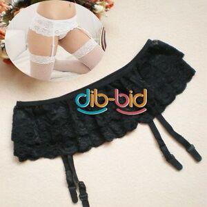 Sexy-Lingerie-2-Layer-Floral-Lace-Garter-Belt-Suspender-Skirt-For-Stocking