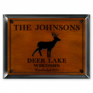 Wood personalized vintage traditional cabin signs 9 for Cabin signs wood