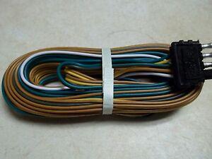 utility trailer wiring harness trailer wire harness 25' 4- way trailer flat plug camper ...