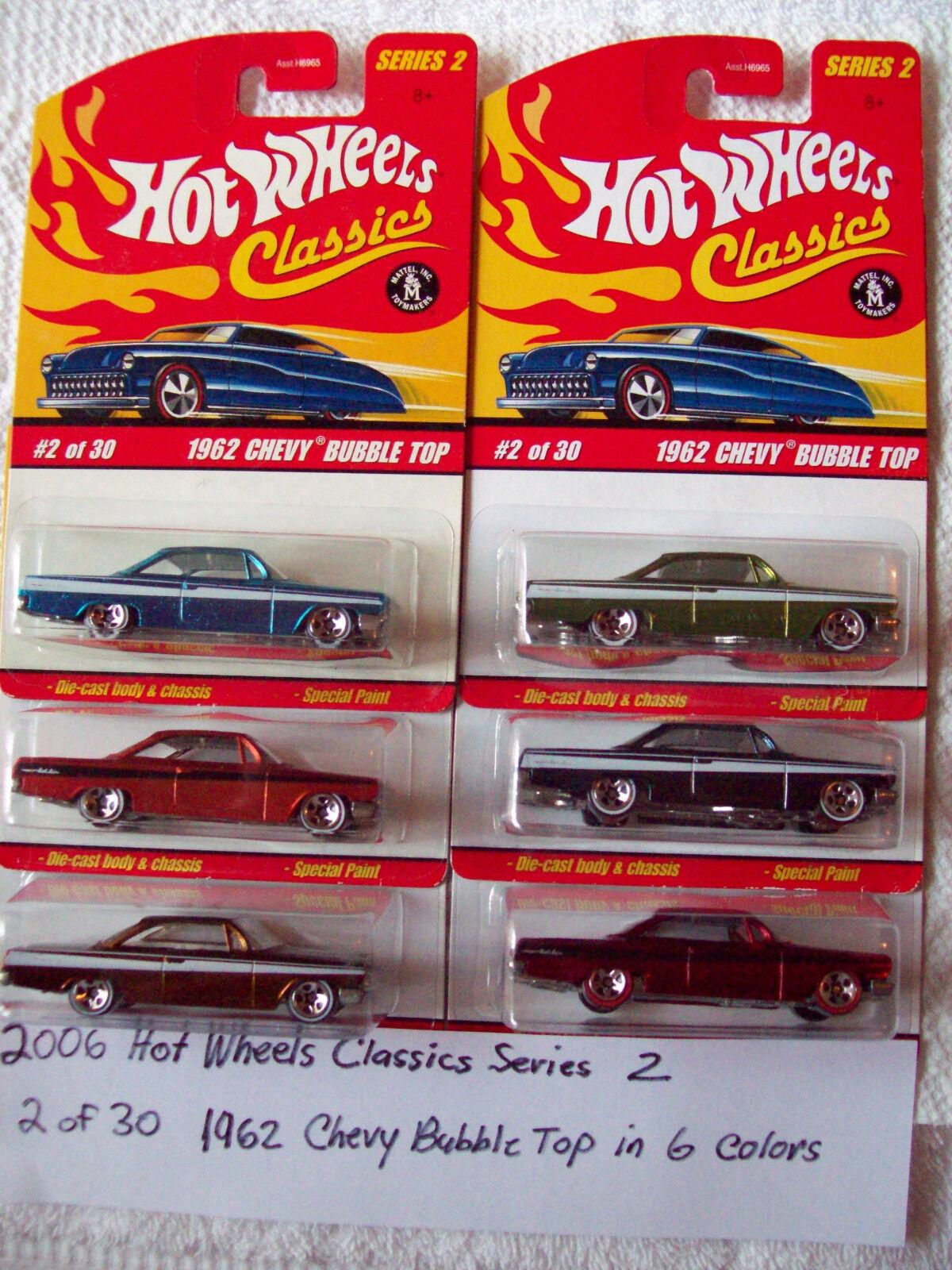 2006 hot wheels - klassiker - reihe 2 1962 chevy bubble top in 6 farben