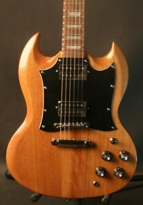 Gitano-Electric-Guitar-SG-style-Solid-Mahogany-Natural-finish-Prosetup