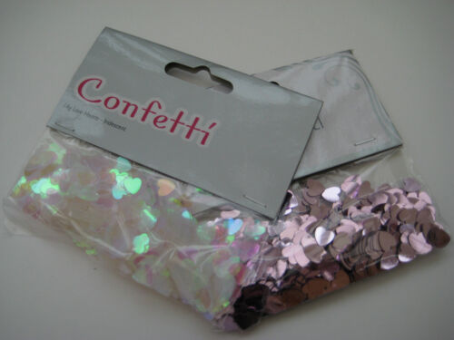 Confetti for Weddings and Parties Pink and Irridescent