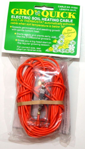 Electric Soil Heating Cable : Soil heat cables and mats collection on ebay