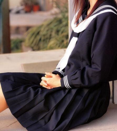 Custom Japan School Girl Sailor Uniform Cosplay/Costume/Clothes NEW All Size