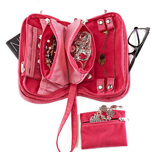 New-Lug-Travel-FLIPPER-Jewelry-Clutch-Organizer-Case-Holder-PICK-A-COLOR-gift