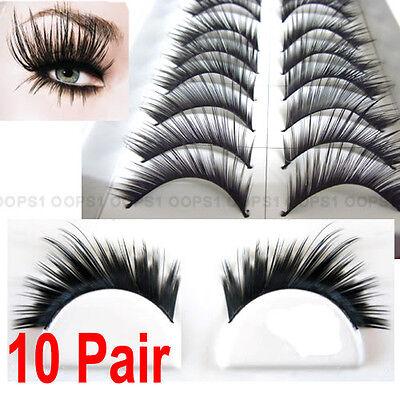10 Pair Thick Snatchy False Eyelash Eye Lash Party #052