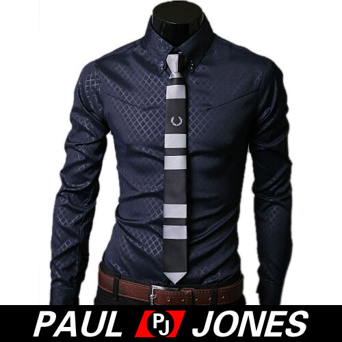 2015 TOP FASHION Men Long sleeve Slim Fit Shirt Tops Casual Formal Dress Shirts