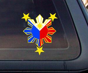 Philippine Flag Sun Car Decal  Stickers EBay - Car sticker decals philippines