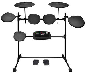 new pyle ped02m electric drum set 5 pads 2 cymbals 2 pedals w mp3 recorder ebay. Black Bedroom Furniture Sets. Home Design Ideas