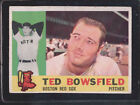 1960 Topps Ted Bowsfield #382 Baseball Card