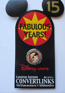 LE-Retired-Disney-Store-Japan-PINOCCHIO-Metal-Button-Cover