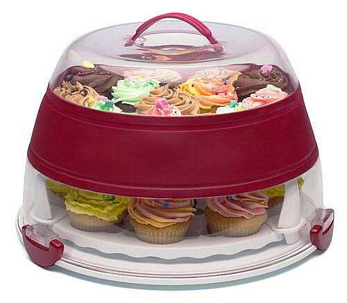 "Reusable Giant Cupcake Carrier 12"" Wedding Cake Carrier Box UK seller"
