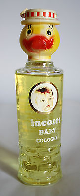 ULTRA RARE NEW & UNUSED 70'S VINTAGE GREEK BABY COLOGNE PERFUME GLASS GREECE !
