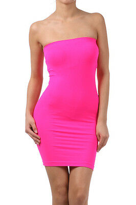 Tube Mini Dress Strapless Stretch tight fitted body-con Seamless One Size