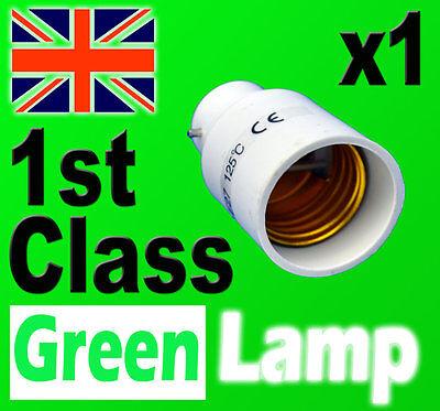 Lamp Light Bulb Socket Base Converter Bayonet Cap to Edison Screw B22 to E27 UK