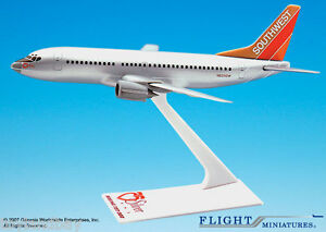 Flight Miniatures Southwest Airlines SWA Silver One Boeing 737 300 1:200 Scale