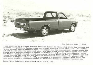 1977-Toyota-PICKUP-Truck-Factory-Press-Photo-Picture-Brochure-Pick-Up