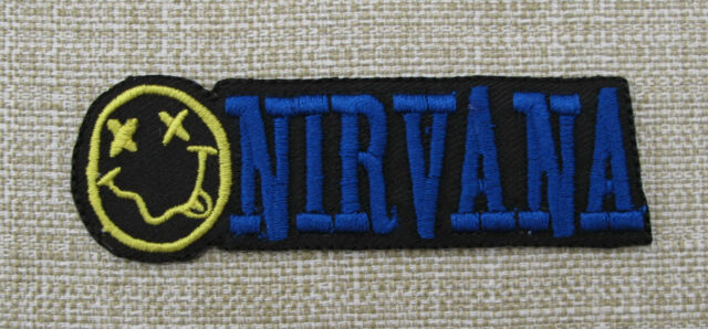 NIRVANA  Iron On Sew On Embroidered Patch  Rock Band