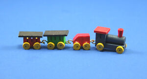 1/12 Scale: Adorable Dollhouse Miniature Wooden Toy Train Set #HD501