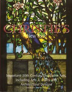 CHRISTIE-S-20C-Deco-Art-Craft-Stickley-GALLE-Cheuret-Brandt-TIFFANY-Auction-Cata