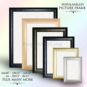 Photo-Frame-Picture-Poster-Frame-Black-BLACK-PINE-MAHOGANY-SILVER-GOLD-Colour