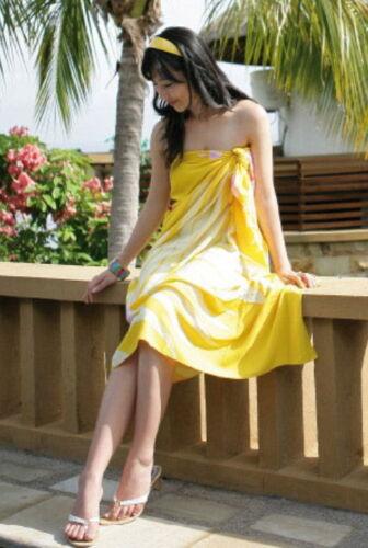 New Pareo Bikini Chiffon Sexy Wrap Skirt Dress Sarong Beach Cover Up Scarf