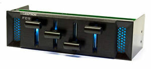 Lamptron-Black-FC9-4ch-50W-5-25-Bay-Fan-Controller-with-7-LED-Colors