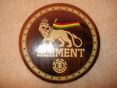 ELEMENT NYJAH HUSTON ROUND CROWNED LION WITH RASTA FLAG SKATEBOARD STICKER