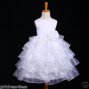 WHITE-COMMUNION-BAPTISM-WEDDING-CHRISTENING-FLOWER-GIRL-DRESS-12M-18M-2-4-6-8-10