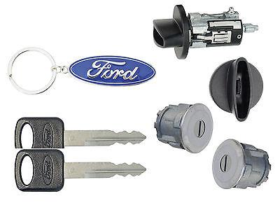 Ford Econoline Van - E150 E250 E350 Ignition Cylinder & 2 Door Lock Set
