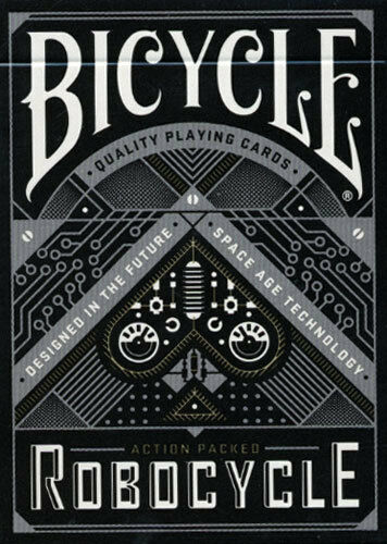 BICYCLE ROBOCYCLE DECK - Playing Cards Deck - black or blue POKER size USPCC