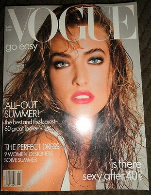 Vogue 5/1987 Christy Turlington Rachel Williams Estelle Lefebure Tatjana Patitz