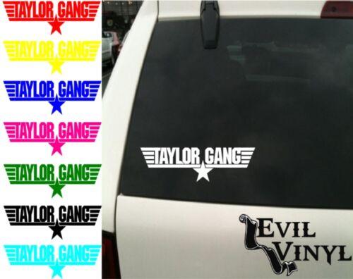 Wiz Khalifa Taylor Gang Decal ANY SIZE Car Window iPhone Laptop Vinyl Sticker