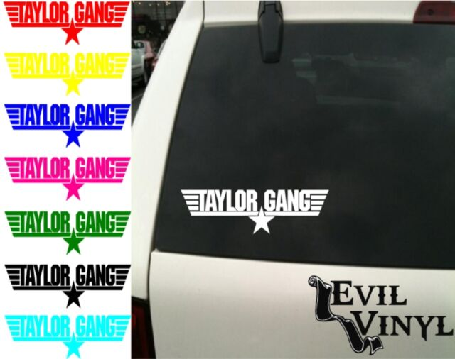 Wiz Khalifa Taylor Gang Decal ANY SIZE Car Window iPhone Laptop Vinyl Sticker