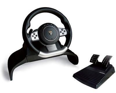 Lamborghini Gallardo Evo Steering Racing Wheel for /PS3 / PS2 / PC NEW
