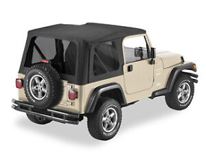 jeep wrangler tj black denim replacement soft top w. Black Bedroom Furniture Sets. Home Design Ideas