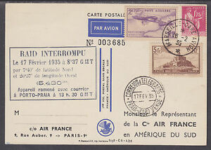 France-Sc-250-C7-on-1935-First-Non-Stop-Flight-PPC-Marseille-to-South-America