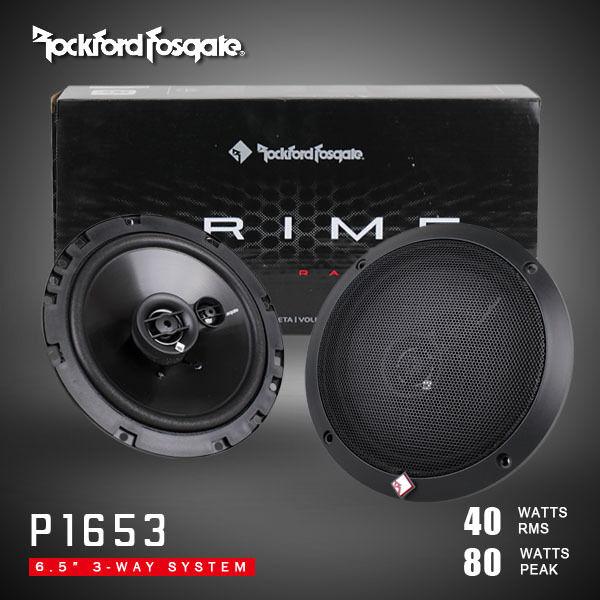 """ROCKFORD FOSGATE PRIME R1653 6.5"""" 3-WAY CAR SPEAKERS"""