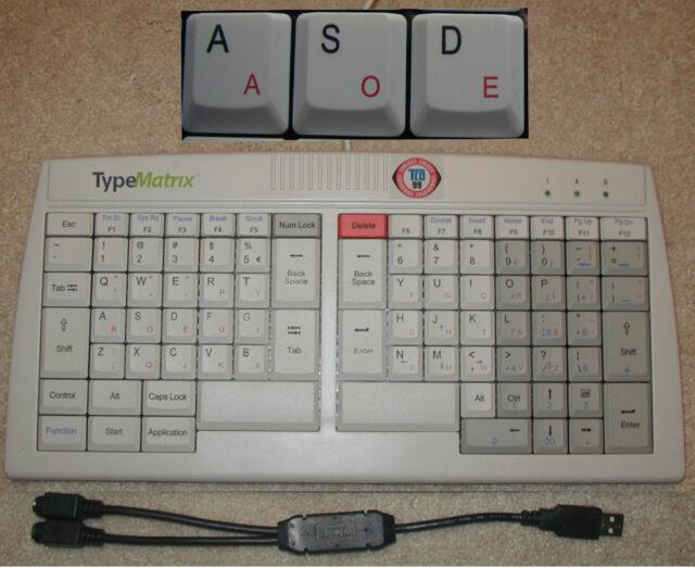 TypeMatrix Ergonomic Keyboard - Dvorak & Qwerty