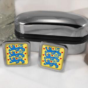 Danish-Shield-Coat-Of-Arms-Mens-Gift-Cufflinks