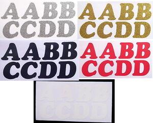 Iron-On-Alphabet-Letters-Washable-Transfers-Plain-Glitter-Metallic-x-40