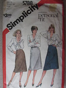 5788-VINTAGE-Simplicity-Sewing-Pattern-Misses-Slim-Skirt-for-Short-Average-Tall