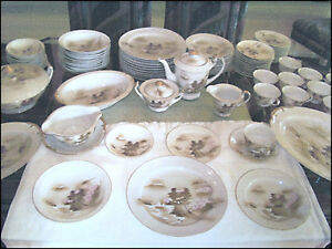 92-piece-setting-Antique-Japanese-Kutani-Hand-Pained-Ceramic-China-Serves-12