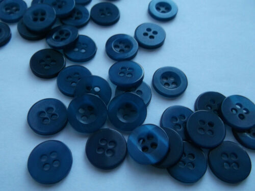 50 Round 11mm Resin 4 Sew Holes Clothes Shirt Craft Buttons - Buy 3 Get 1 FREE