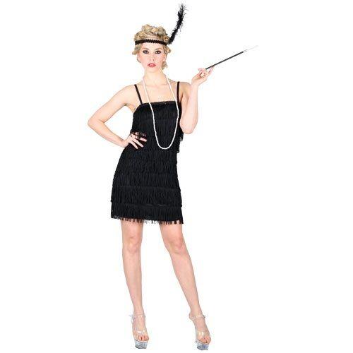 CHARLESTON FLAPPER FRINGE FRINGED FANCY DRESS COSTUME 1920S 20S 1930S 30S