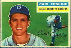 1956 Topps Carl Erskine Brooklyn Dodgers #233 Baseball Card