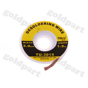 5-ft-3mm-Desoldering-Braid-Solder-Remover-Wick-TNI-U